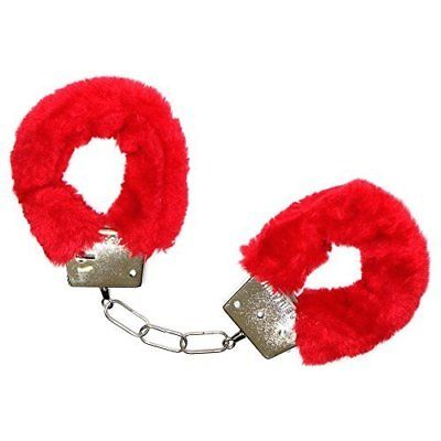 Red Fluffy Handcuffs - The Ultimate Party Shop