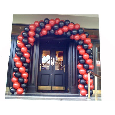Corporate Coloured Spiral Balloon Arch - The Ultimate Party Shop