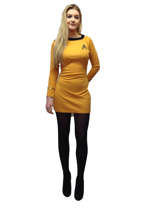 Women's Star Trek Dress Hire Costume - The Ultimate Balloon & Party Shop