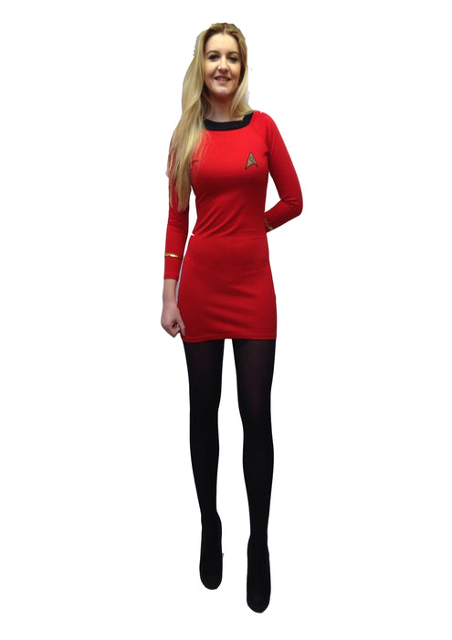 Women's Star Trek Dress Hire Costume - The Ultimate Party Shop