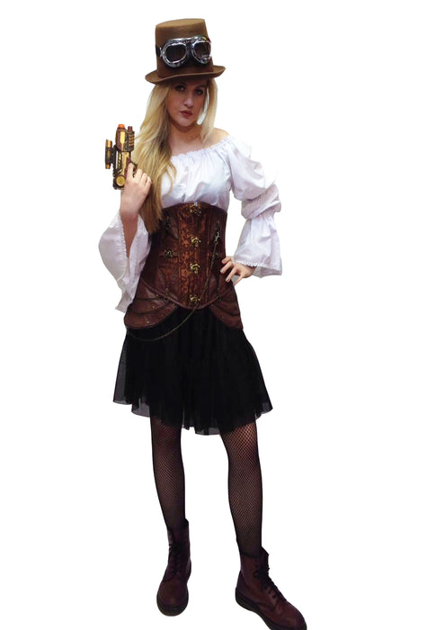NEW Female Steam Punk Hire Costume - The Ultimate Party Shop