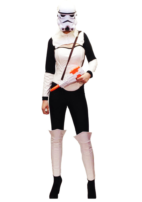NEW White Space Soldier Hire Costume - The Ultimate Party Shop