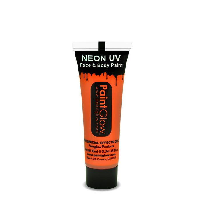 Neon UV Face & Body Paint - Orange