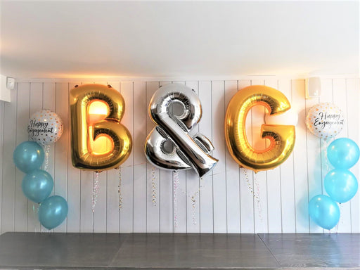 Initials for Engagements & Weddings - The Ultimate Balloon & Party Shop