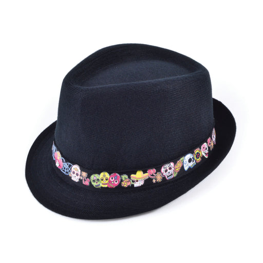 Day Of The Dead Fedora - The Ultimate Party Shop