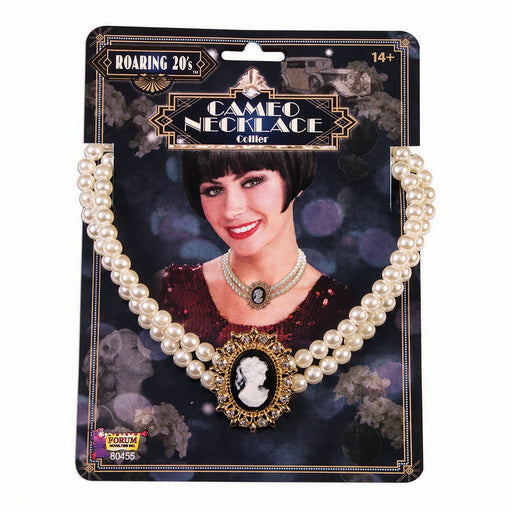 1920's Cameo Pearl Necklace - The Ultimate Party Shop