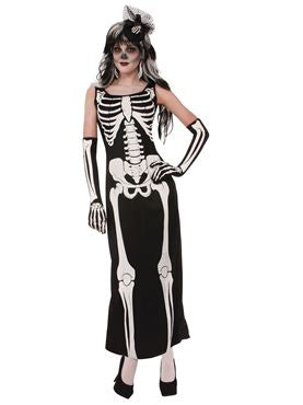 Skeleton Print Long Dress - The Ultimate Balloon & Party Shop