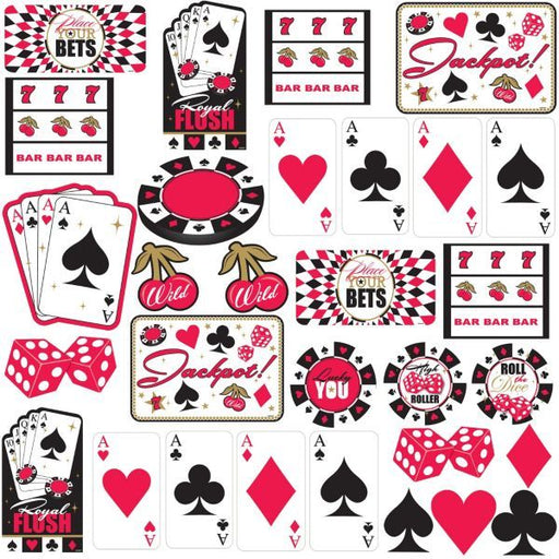Cutout Decs (30 Pack) - Casino