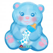 "16"" Foil It's A Boy Bear Jr Shape Balloon - The Ultimate Party Shop"