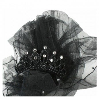 Black Tiara And Veil - The Ultimate Balloon & Party Shop