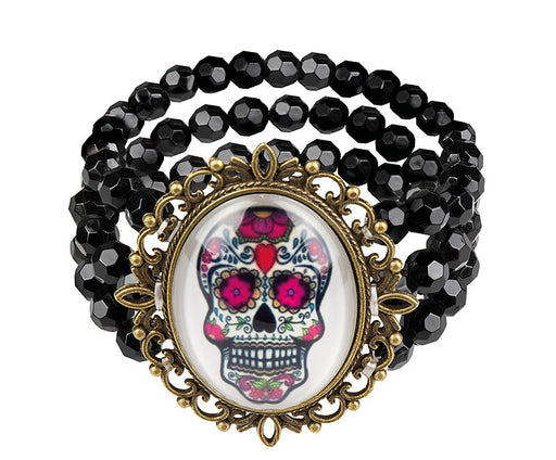 Sugar Skull Bracelet - The Ultimate Party Shop
