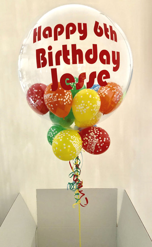 Personalised Bubble Balloons In a Box - The Ultimate Party Shop