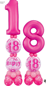 Giant number on bubble pillar - The Ultimate Party Shop
