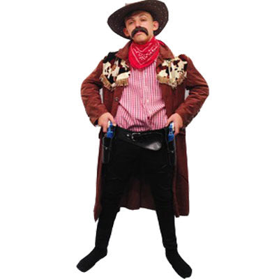 Cowboy Hire Costume - Brown (HIRE) - The Ultimate Balloon & Party Shop