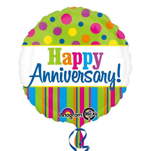 "18"" Foil Happy Anniversary Bright Balloon"