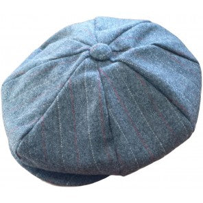 Peaky Blinders Flat Cap - Dark Grey Stripe - The Ultimate Balloon & Party Shop