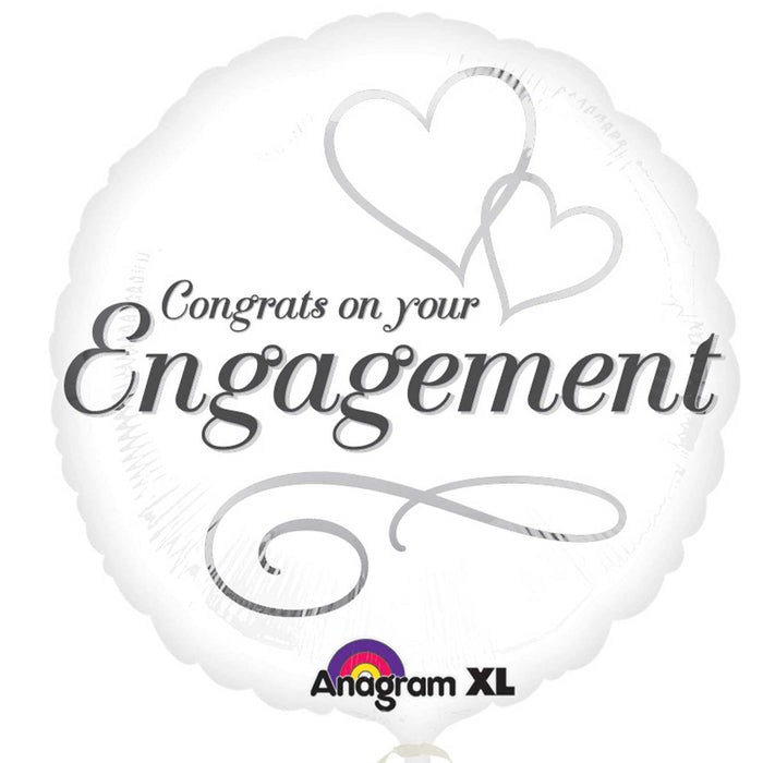 "18"" Foil Engagement Congrats Balloon - The Ultimate Party Shop"