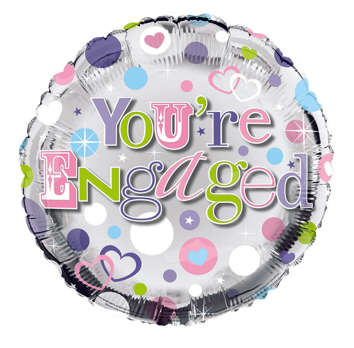 "18"" Foil You're Engaged Balloon - The Ultimate Party Shop"