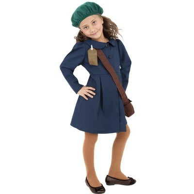World War 2 Evacuee Girl Children's Costume - The Ultimate Party Shop