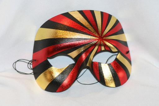 1/2 Face Eyemask - Red/Gold/Black - The Ultimate Balloon & Party Shop