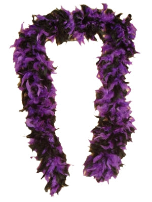 Feather Boa - Purple & Black