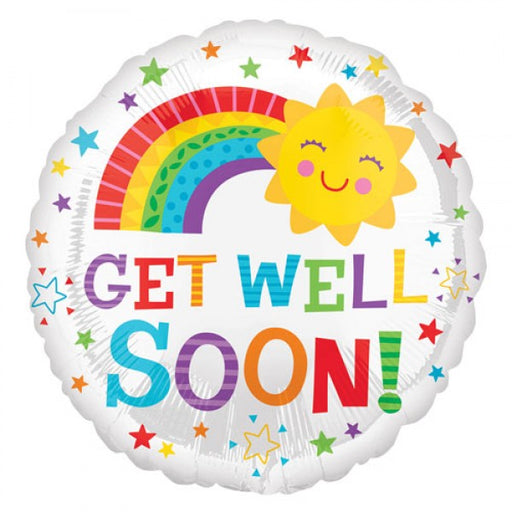 "18"" Foil Get Well Soon Bright Balloon - The Ultimate Party Shop"
