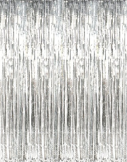 Tinsel Curtain - Silver - The Ultimate Balloon & Party Shop