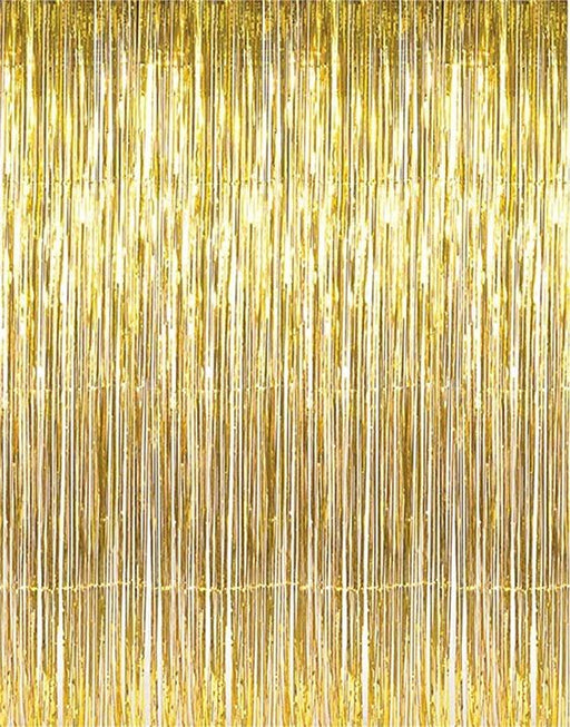 Tinsel Curtain - Gold - The Ultimate Balloon & Party Shop