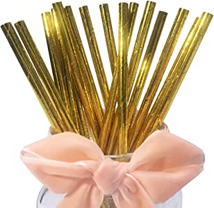 Gold Paper Straws - The Ultimate Balloon & Party Shop