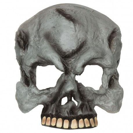 Skull Half Face Mask - Grey - The Ultimate Party Shop
