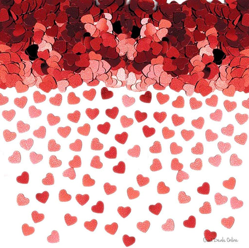 Red Sparkle Hearts Table Confetti - The Ultimate Party Shop