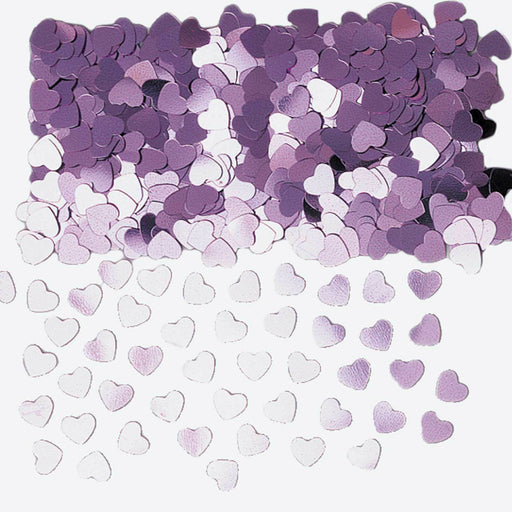 Light Pink Sparkle Hearts Table Confetti - The Ultimate Party Shop