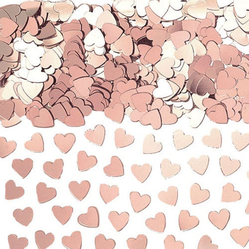 Rose Gold Sparkle Hearts Table Confetti - The Ultimate Party Shop