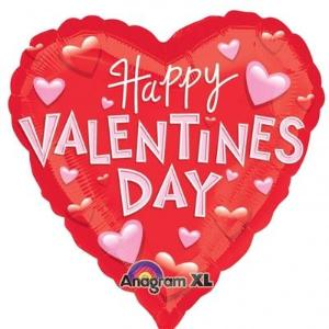 Happy Valentines Day Heart Shaped Foil Balloon - The Ultimate Balloon & Party Shop