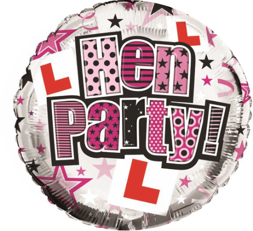 "18"" Foil Hen Party Balloon - The Ultimate Party Shop"