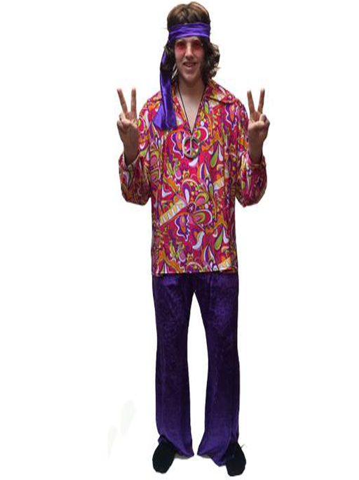 1960s/1970s Hippy Hire Costume - Flower CND