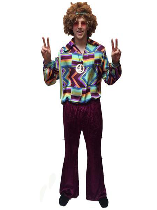 1960s/1970s Hippy Hire Costume - ZigZag CND - The Ultimate Party Shop