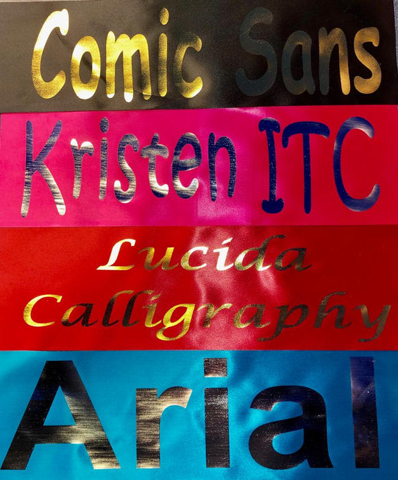 Personalised Ribbon Sash - The Ultimate Balloon & Party Shop