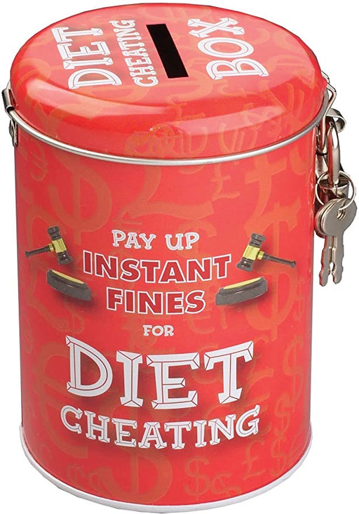 Fines Tin Money Box - Diet Cheating - The Ultimate Balloon & Party Shop