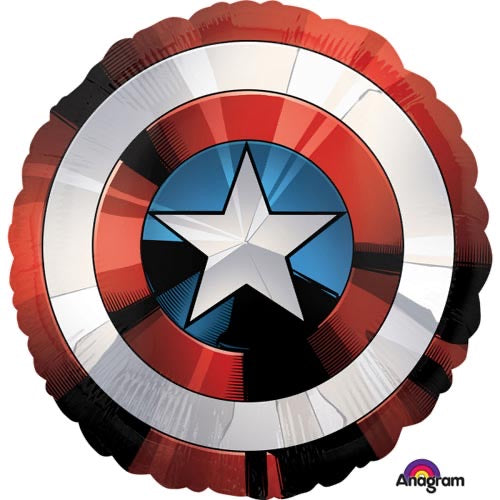 Supershape Captain America Shield Foil Balloon - The Ultimate Balloon & Party Shop