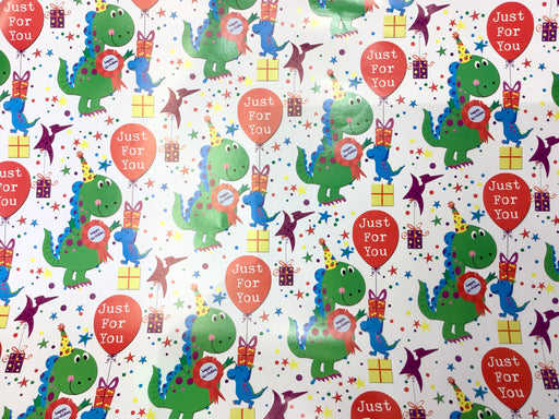 Birthday Gift Wrap - Dinosaur Party - The Ultimate Balloon & Party Shop
