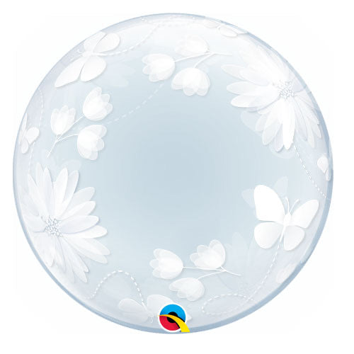 Deco Bubble Clear Balloon -  Floral - The Ultimate Balloon & Party Shop