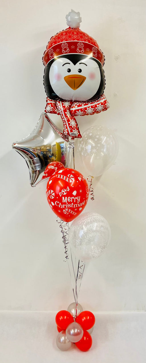 Penguin Frosty Balloon Display - Mixed Bouquet - The Ultimate Balloon & Party Shop