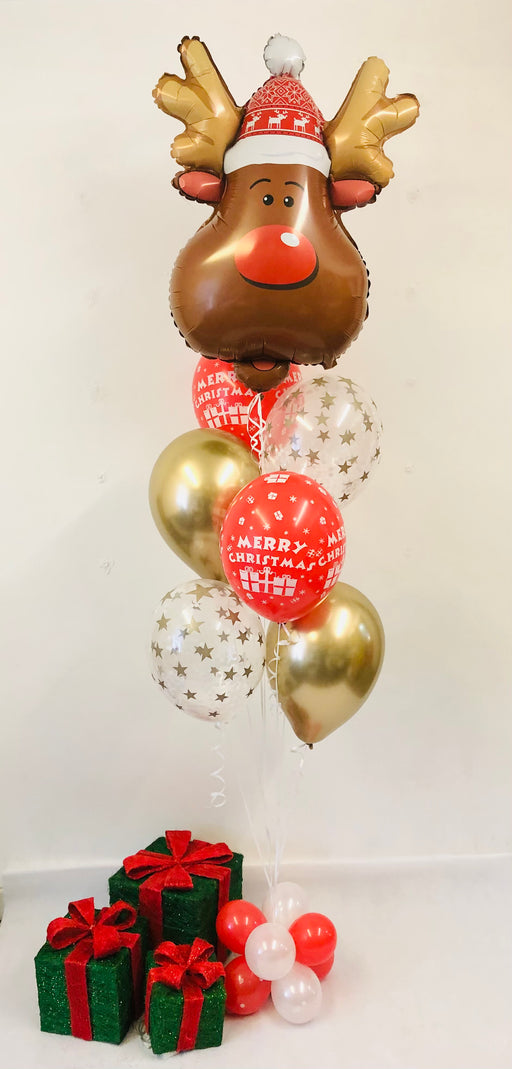 Christmas Reindeer Assorted Display - Stars/Chrome/Christmas Reindeer - The Ultimate Balloon & Party Shop