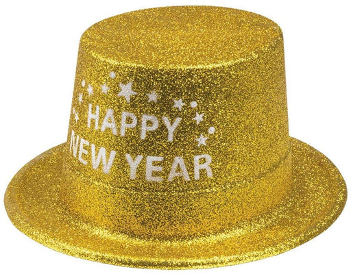Happy New Year Gold Glitter Topper - The Ultimate Balloon & Party Shop