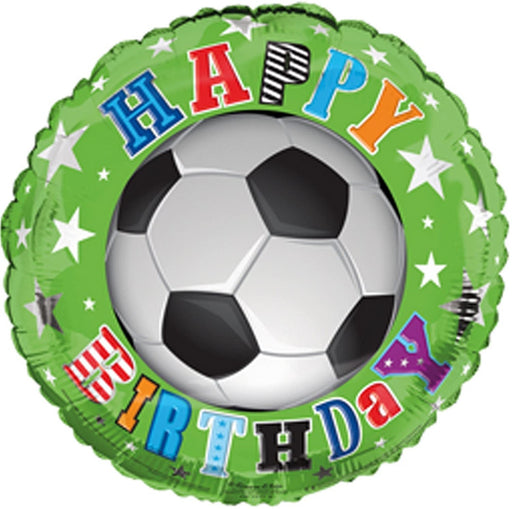 "18"" Foil Football Happy Birthday Printed Balloon - The Ultimate Balloon & Party Shop"