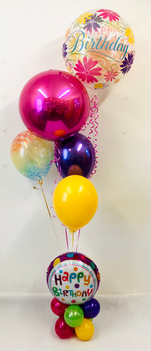 Spring Themed Birthday Balloon Display - The Ultimate Balloon & Party Shop