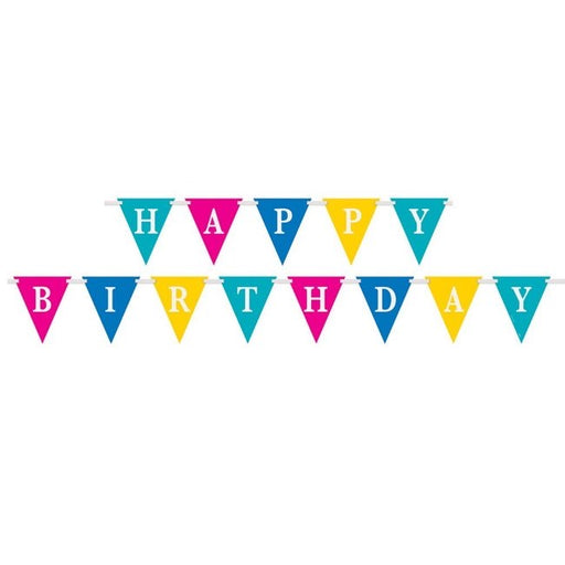 Bunting - Happy Birthday Letter Flags - The Ultimate Balloon & Party Shop