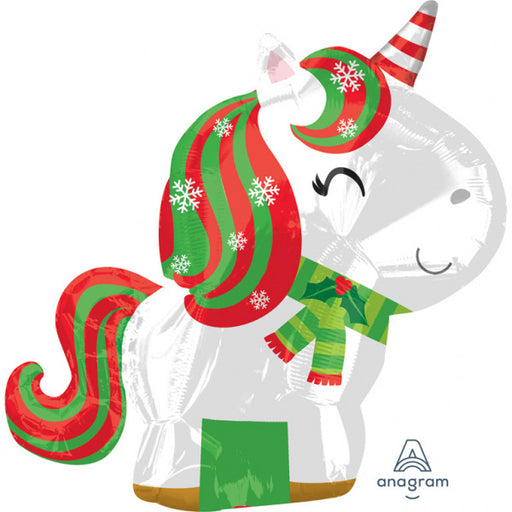 Junior Shape Foil Christmas Balloon - Unicorn - The Ultimate Balloon & Party Shop