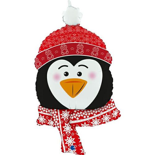 Supershape Foil Christmas Balloon - Cosy Penguin - The Ultimate Balloon & Party Shop